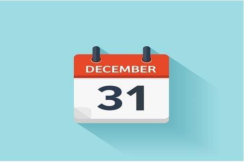 Calendar on December page