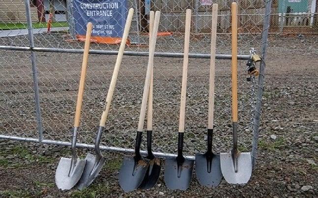 Shovels, breaking ground
